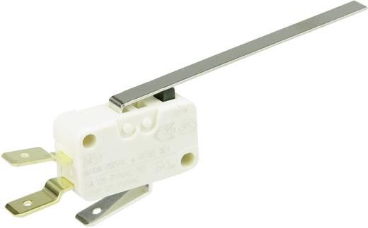 Cherry miniatűr karos mikrokapcsoló, 250V/AC, 1 váltó, csúszósarus, D453-V3LL