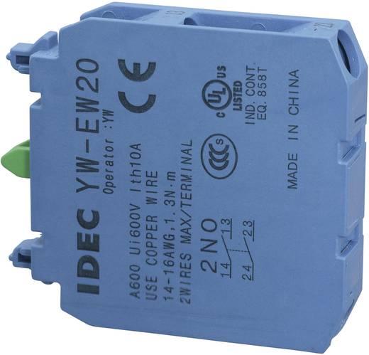 Érintkező elem 2 záró, 240 V/AC 6 A, Idec YW-EW20