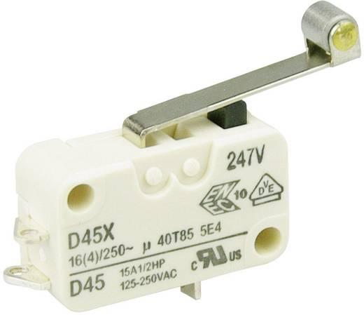 Cherry miniatűr karos mikrokapcsoló, 250V/AC, 1 váltó, forrasztós, D459-B8RD