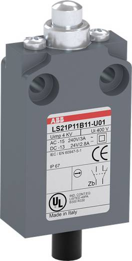 Végálláskapcsoló 400 V/AC 5 A, nyomócsapos, IP67, ABB 1SBV016011R3201