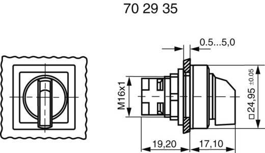 RAFI Választókapcsoló reteszeléssel (nem megvilágítható) 1.30073.540 1 x 90 ° (0 - 90 °) Fekete