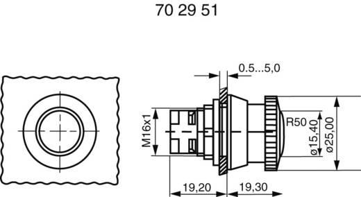 RAFI vészkikapcsoló gomb, világítós, Ø16,2mm, 130074521/0304
