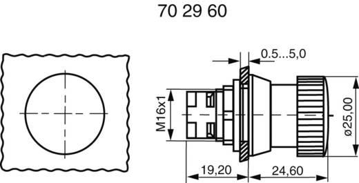 RAFI biztonsági vészkikapcsoló gomb, Ø16,2mm, 130074121/0301