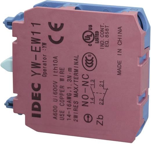 Érintkező elem, 240 V/AC YW YW-EW11 1 záró, 1 nyitó Csavaros csatlakozó 240 V/AC 6 A, Idec