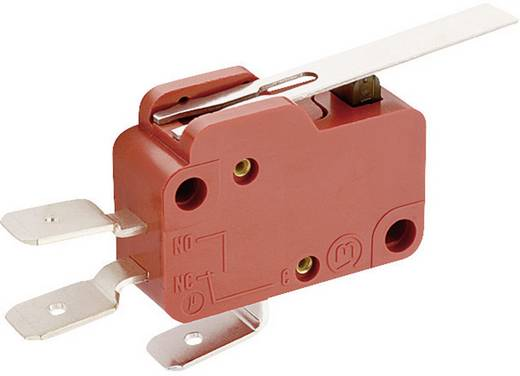 Mikrokapcsoló 250 V/AC 10 A 1 x BE/(BE) Marquardt 1006.0901 nyomó 1 db