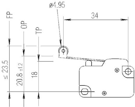 Marquardt mikrokapcsoló 250V/AC, 1006.1511