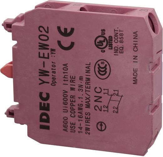 Érintkező elem, 240 V/AC YW-EW02 2 nyitó Csavaros csatlakozó 240 V/AC 6 A, Idec