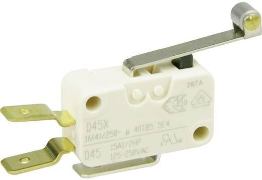 Cherry miniatűr karos mikrokapcsoló, 250V/AC, 1 váltó, csúszósarus, D459-V3RD