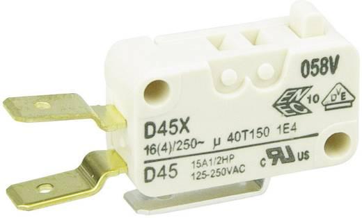 Cherry miniatűr karos mikrokapcsoló, 250V/AC, 1 váltó, csúszósarus, D45U-V3AA