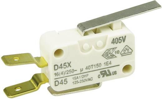 Cherry miniatűr karos mikrokapcsoló, 250V/AC, 1 váltó, csúszósarus, D45U-V3LD