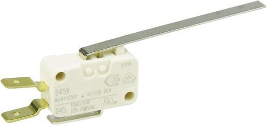 Cherry miniatűr karos mikrokapcsoló, 250V/AC, 1 váltó, csúszósarus, D45U-V3LL