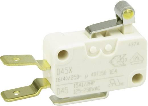 Cherry miniatűr karos mikrokapcsoló, 250V/AC, 1 váltó, csúszósarus, D45U-V3RA