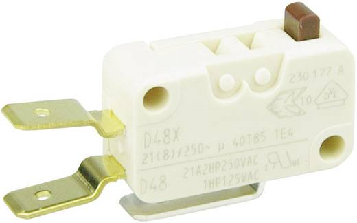Cherry miniatűr karos mikrokapcsoló, 250V/AC, 1 váltó, csúszósarus, D489-V3AA