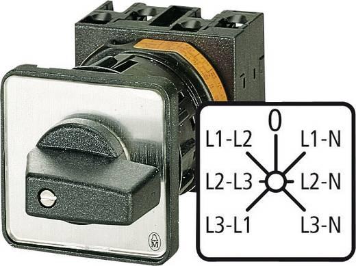 Feszültségmérő átkapcsoló beépíthető, 20 A 6,5 kW Eaton T0-3-8007/E
