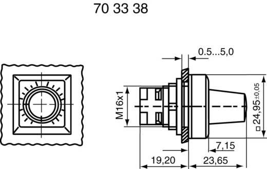 Potméter forgatógomb, RAFI 1.30077.041
