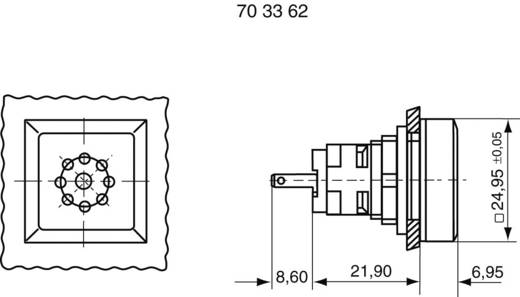 Akusztikus jeladó 70 dB 24 V/DC RAFI 1.30.078.041/0100