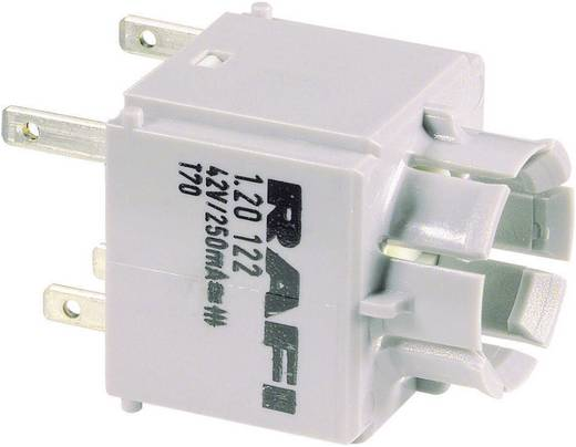 RAFI Szabványos kapcsolóelem 1.20122.031 izzófoglalat nélkül Laposérintkezős csatlakozók, 2,8 x 0,8 mm 42 V 250 mA