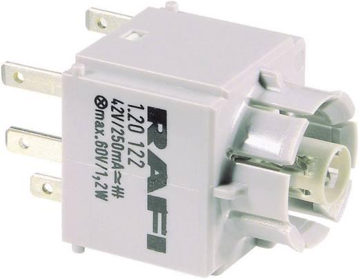 RAFI Szabványos kapcsolóelem 1.20122.051 izzó foglalattal Laposérintkezős csatlakozók, 2,8 x 0,8 mm 42 V 250 mA