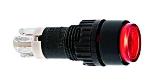 Nyomógomb 24 V 0.5 A 1 x KI/(BE) RAFI 1.15.106.301/0518 IP40 Nyomó 10 db