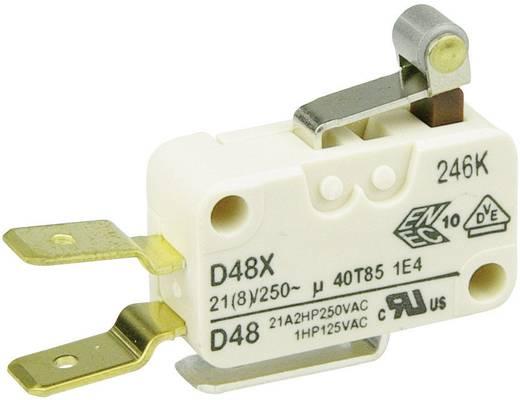 Cherry miniatűr karos mikrokapcsoló, 250V/AC, 1 váltó, csúszósarus, D489-V3RA