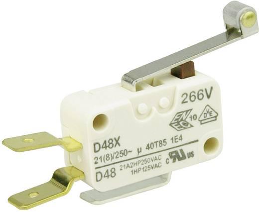 Cherry miniatűr karos mikrokapcsoló, 250V/AC, 1 váltó, csúszósarus, D489-V3RD
