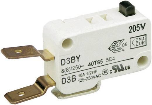 Cherry miniatűr mikrokapcsoló, 250V/AC, 1 váltó, csúszósarus, D3B6-V3AA