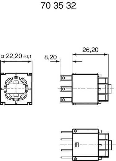RAFI Univerzális kapcsoló elem 1.20123.031 lámpafoglalat nélkül Lapos dugaszolható csatlakozás 2.8 x 0.8 mm 42 V 250 mA
