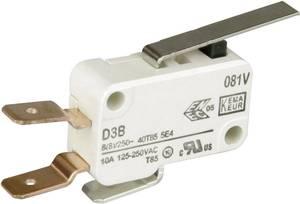 Cherry miniatűr mikrokapcsoló, 250V/AC, 1 váltó, csúszósarus, D3B6-V3LD Cherry Switches