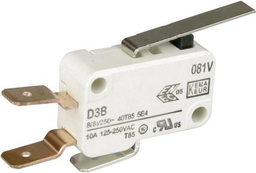Cherry miniatűr mikrokapcsoló, 250V/AC, 1 váltó, csúszósarus, D3B6-V3LD