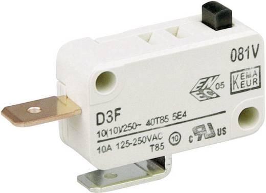 Cherry miniatűr mikrokapcsoló, 250V/AC, 1 váltó, csúszósarus, D3F4-V1AA