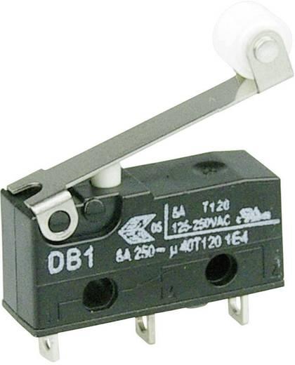 Cherry szubminiatűr mikrokapcsoló, 250V/AC, 1 váltó, forrasztós, DB1C-A1RC