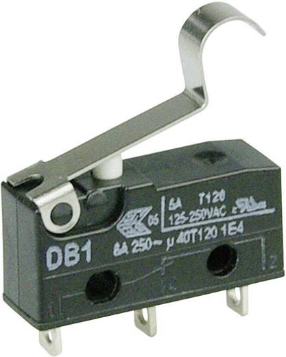 Cherry szubminiatűr mikrokapcsoló, 250V/AC, 1 váltó, forrasztós, DB1C-A1SB