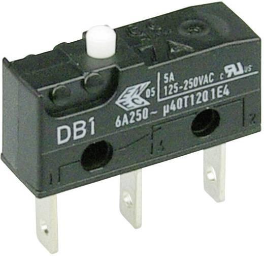 Cherry szubminiatűr mikrokapcsoló, 250V/AC, 1 váltó, csúszósarus, DB1C-B1AA