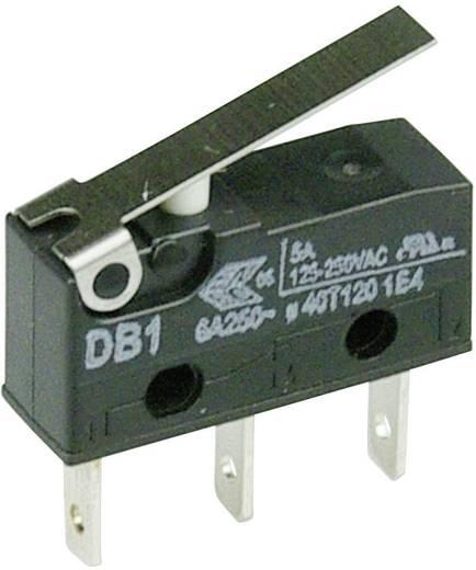 Cherry szubminiatűr mikrokapcsoló, 250V/AC, 1 váltó, csúszósarus, DB1C-B1LB