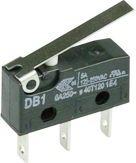 Cherry szubminiatűr mikrokapcsoló, 250V/AC, 1 váltó, csúszósarus, DB1C-B1LC