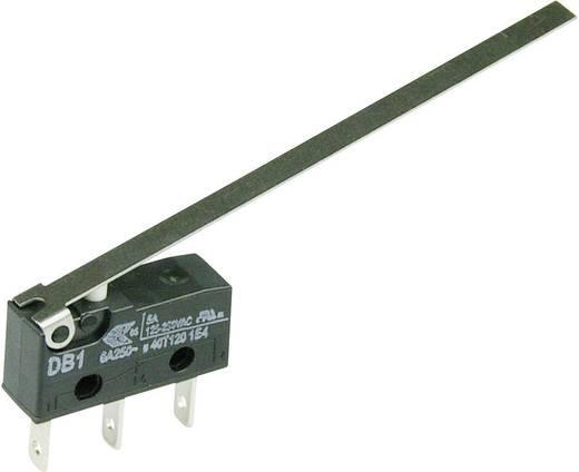 Cherry szubminiatűr mikrokapcsoló, 250V/AC, 1 váltó, csúszósarus, DB1C-B1LD