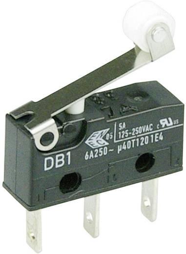 Cherry szubminiatűr mikrokapcsoló, 250V/AC, 1 váltó, csúszósarus, DB1C-B1RB