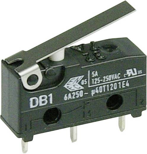 Cherry szubminiatűr mikrokapcsoló, 250V/AC, 1 váltó, nyákba forrasztós, DB1C-C1LB