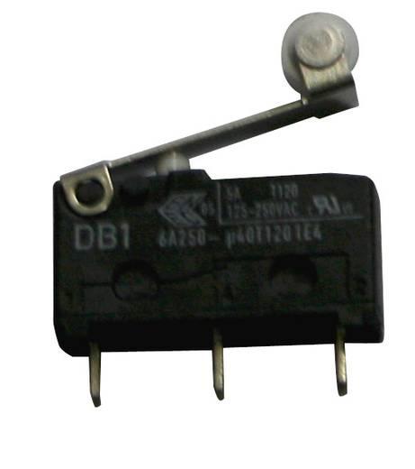 Cherry szubminiatűr mikrokapcsoló, 250V/AC, 1 váltó, nyákba forrasztós, DB1C-C1RB