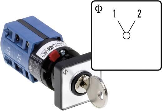 Kulcsos átkapcsoló nulla állás nélkül Kapcsolási szög 60 ° 10 A Kraus & Naimer CG4 A220-600 FS2 V750D/2J