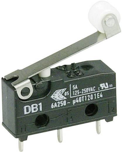 Cherry szubminiatűr mikrokapcsoló, 250V/AC, 1 váltó, nyákba forrasztós, DB1C-C1RC