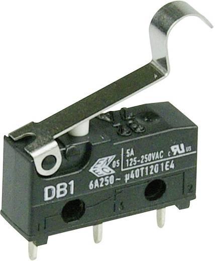 Cherry szubminiatűr mikrokapcsoló, 250V/AC, 1 váltó, nyákba forrasztós, DB1C-C1SC