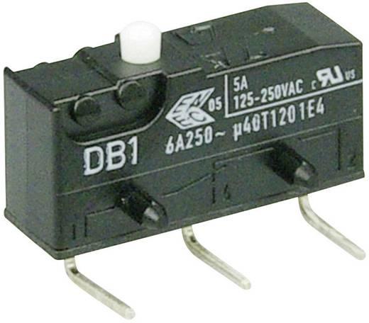 Cherry szubminiatűr mikrokapcsoló, 250V/AC, 1 váltó, nyákba forrasztós, DB1C-D2AA