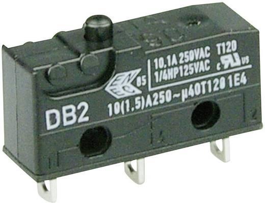 Cherry szubminiatűr karos mikrokapcsoló, 250V/AC, 1 váltó, forrasztós, DB2C-A1AA