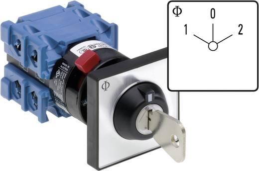 Kraus & Naimer Kulcsos átkapcsoló nulla állással CH10 A211-600 FT2 V750D/3H Kapcsolási szög 60 ° 20 A