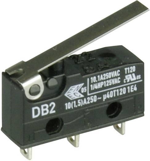 Cherry szubminiatűr karos mikrokapcsoló, 250V/AC, 1 váltó, forrasztós, DB2C-A1LC