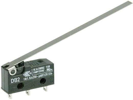 Cherry szubminiatűr karos mikrokapcsoló, 250V/AC, 1 váltó, forrasztós, DB2C-A1LD