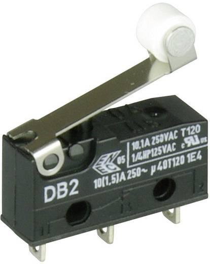 Cherry szubminiatűr karos mikrokapcsoló, 250V/AC, 1 váltó, forrasztós, DB2C-A1RB