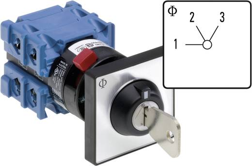 Kulcsos fokozatkapcsoló 20 A Kraus & Naimer CH10 A230-600 FT2 V750D/3J
