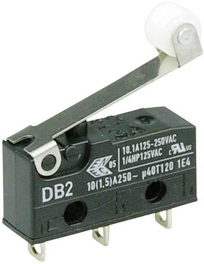 Cherry szubminiatűr karos mikrokapcsoló, 250V/AC, 1 váltó, forrasztós, DB2C-A1RC